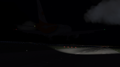 A320 landing at RPLC at night