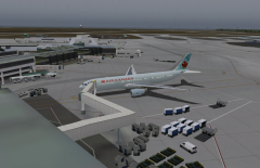 AC33 arrived at the gate in YVR from YYZ preparing for leg number 2 to Sydney Australia