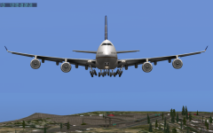 747-400 Arrival