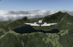 Flying Baron 58 over creator In Indonesia In X Plane 10. No Add On.