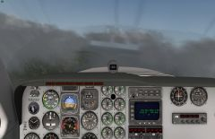 Flying Baron 58 In some clouds over mountains To FACT In South Africa. No Add On, X Plane 10.