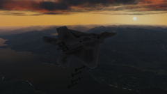 F/A 22 Seattle Sunset